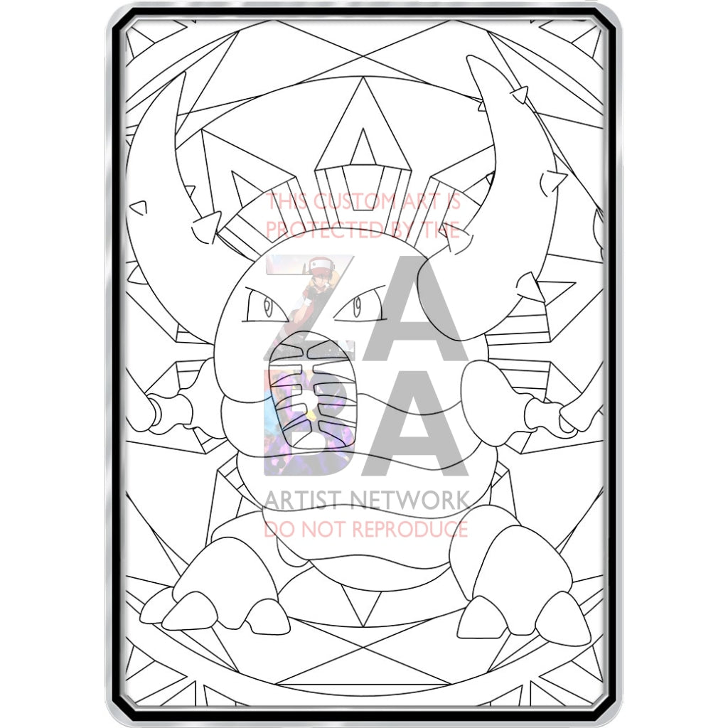 Color Me Pinsir - Custom Pokemon Coloring Card
