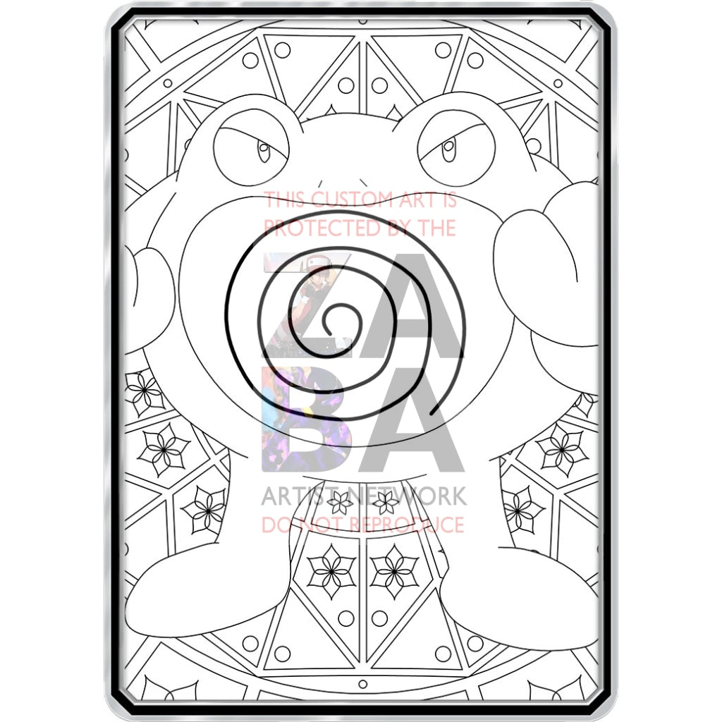 Color Me Poliwrath - Custom Pokemon Coloring Card