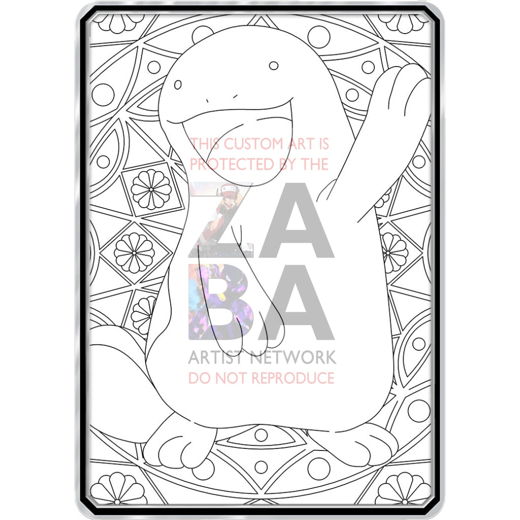 Color Me Quagsire - Custom Pokemon Coloring Card