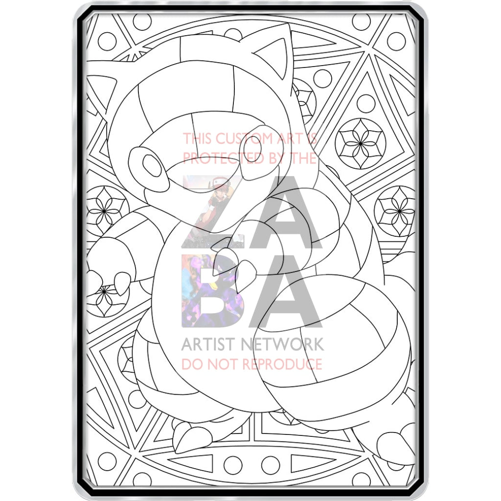 Color Me Sandshrew - Custom Pokemon Coloring Card