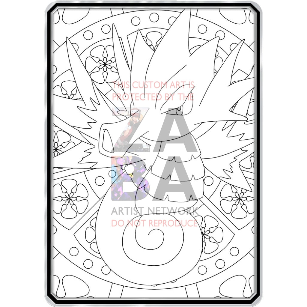 Color Me Seadra - Custom Pokemon Coloring Card