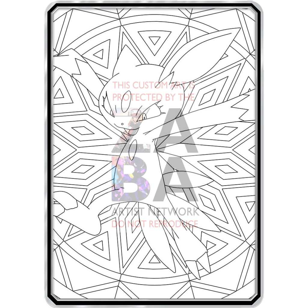 Color Me Sneasel - Custom Pokemon Coloring Card