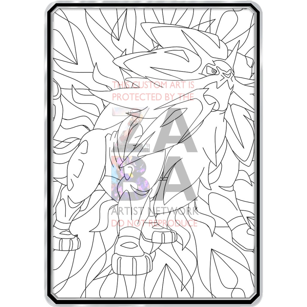 Color Me Solgaleo - Custom Pokemon Coloring Card