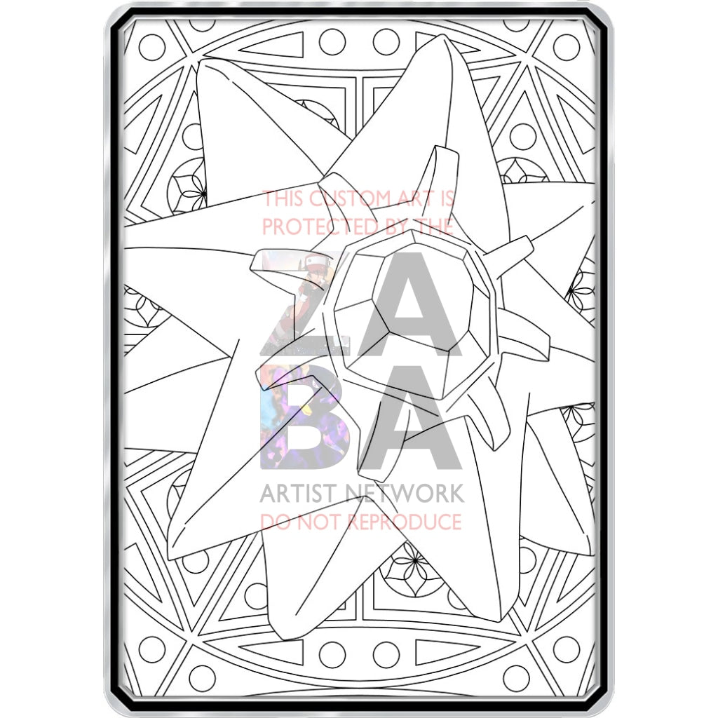 Color Me Starmie - Custom Pokemon Coloring Card