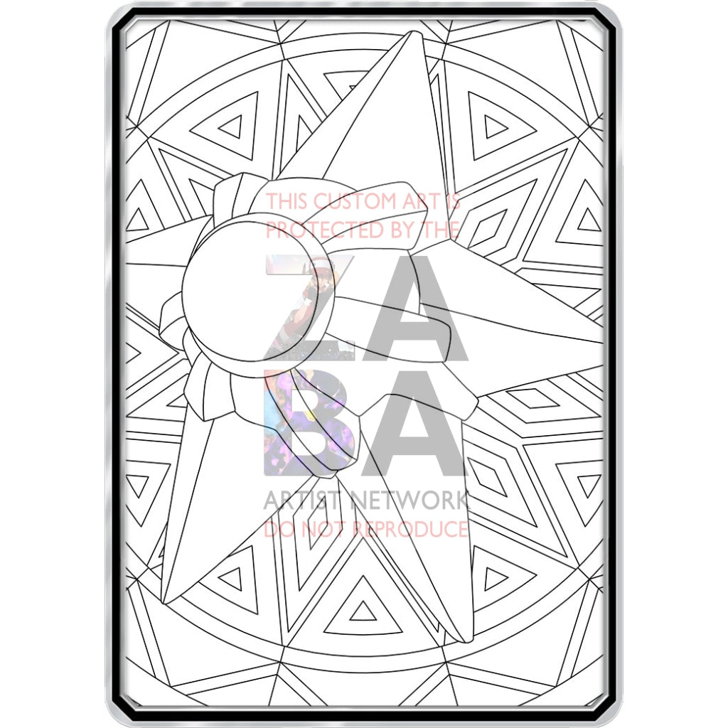 Color Me Staryu - Custom Pokemon Coloring Card