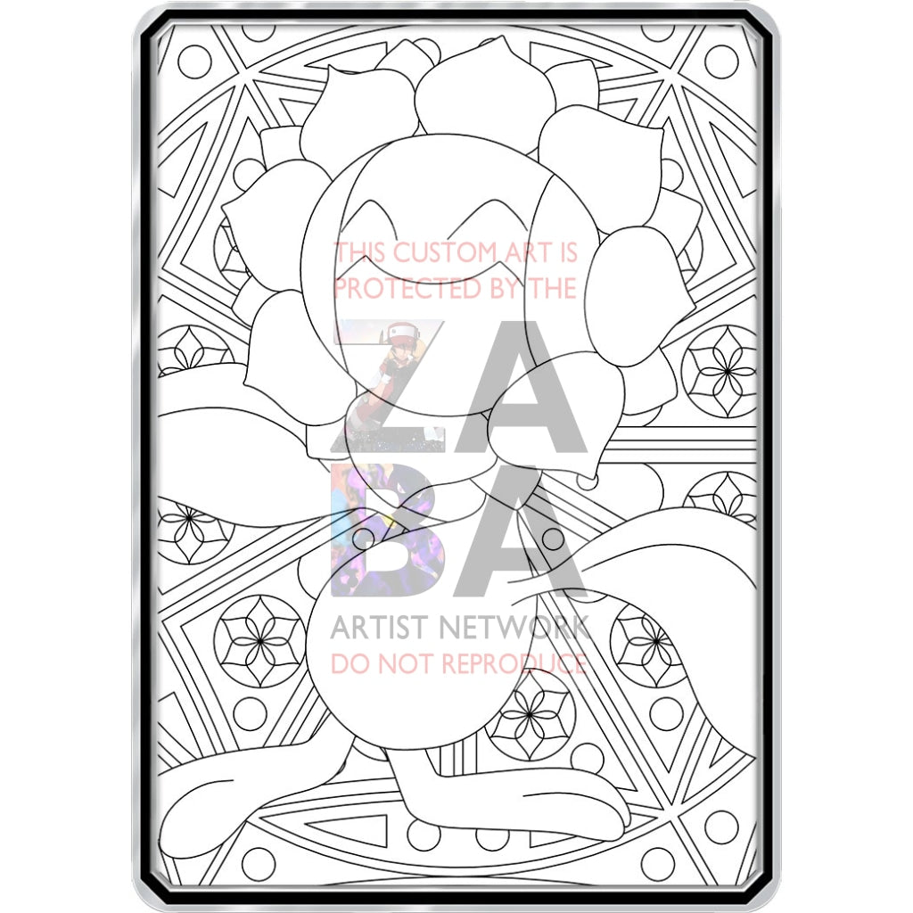 Color Me Sunflora - Custom Pokemon Coloring Card