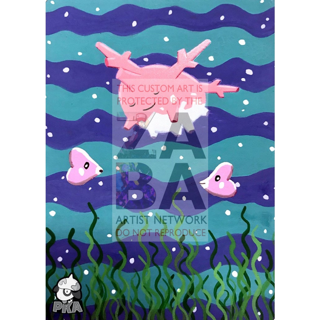 Corsola 102/165 Expedition Extended Art Custom Pokemon Card Silver Holographic
