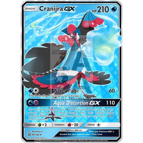 Cranijra Gx (Mahat Region) Custom Pokemon Card Basic Stage
