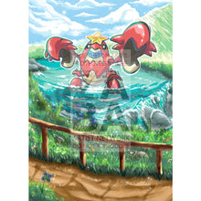 Crawdaunt 25/111 Crimson Invasion Extended Art Custom Pokemon Card Silver Holographic Textless