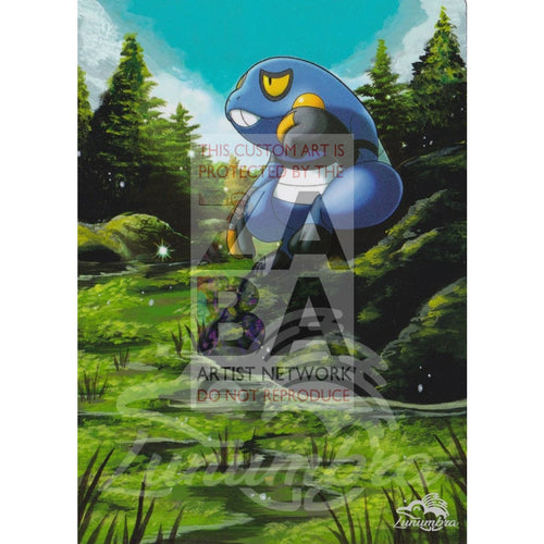 Croagunk 58/114 Xy Steam Siege Extended Art Custom Pokemon Card Textless Silver Holographic