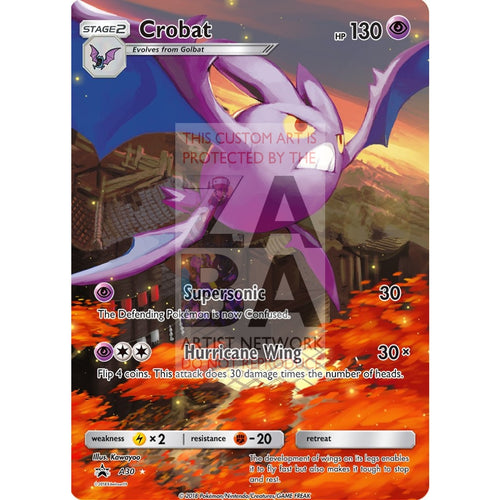 Crobat 14/95 Hs Unleashed Extended Art Custom Pokemon Card Silver Holographic