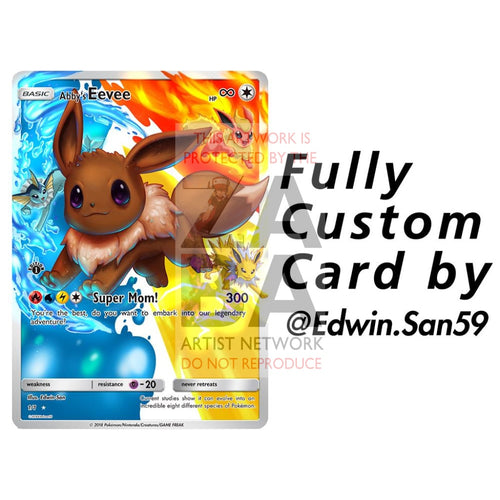 Custom Edwin-San Card (Must Talk With Edwin Before Purchasing) Pokemon