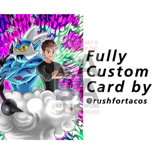 Custom Rushfortacos Card (Must Talk With Rush Before Checkout) Pokemon