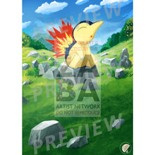 Cyndaquil 39/214 Lost Thunder Extended Art Custom Pokemon Card Textless Silver Foil