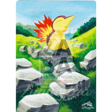 Cyndaquil 39/214 Sun & Moon Lost Thunder Extended Art Custom Pokemon Card Shining Textless Silver