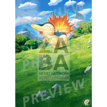 Cyndaquil 40/214 Lost Thunder Extended Art Custom Pokemon Card Textless Silver Foil