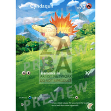 Cyndaquil 40/214 Lost Thunder Extended Art Custom Pokemon Card With Text Silver Foil