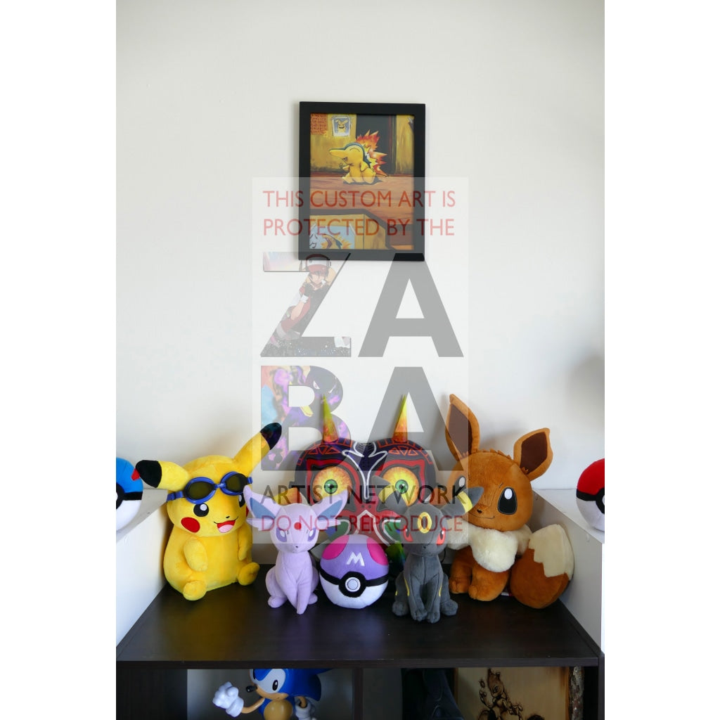 Cyndaquil (57/111 Neo Genesis) 8.5 X 11 Poster Print By Lunumbra