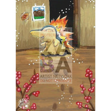 Cyndaquil 57/111 Neo Genesis Extended Art Custom Pokemon Card Silver Holo