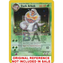 Dark Arbok 2/82 Team Rocket Extended Art Custom Pokemon Card