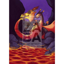 Dark Charizard 4/82 Team Rocket Extended Art Custom Pokemon Card Textless Silver Holographic