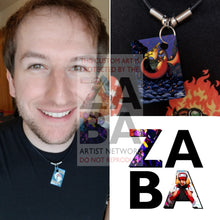 Dark Charizard (Version 2) 4/82 Team Rocket Extended Art Custom Pokemon Card 18 Necklace (Pic For