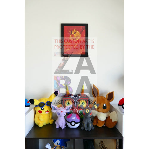Dark Flareon (35/82 Team Rocket) 8.5 X 11 Poster Print By Lunumbra