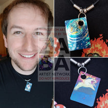 Dark Flareon Team Rocket 35/82 Extended Art Custom Pokemon Card 18 Necklace (Pic For Reference)