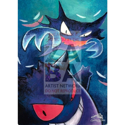Dark Haunter 36/105 Neo Destiny Extended Art Custom Pokemon Card Textless Silver Holographic