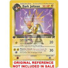 Dark Jolteon Team Rocket 38/82 Extended Art Custom Pokemon Card