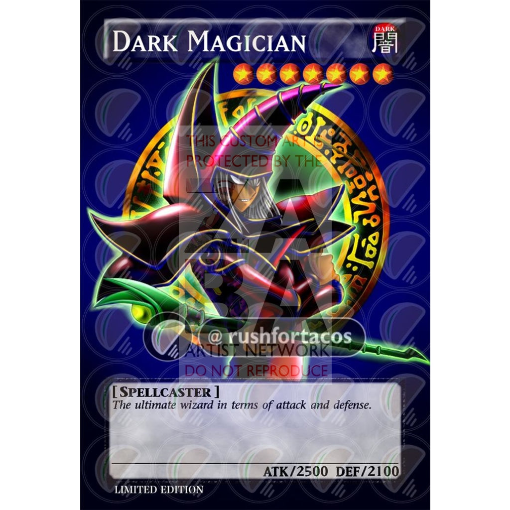 Dark Magician Full Art V.8 Orica - Custom Yu-Gi-Oh! Card