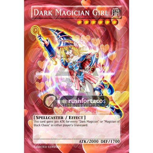 Dark Magician Girl V.2 Full Art Orica - Custom Yu-Gi-Oh! Card