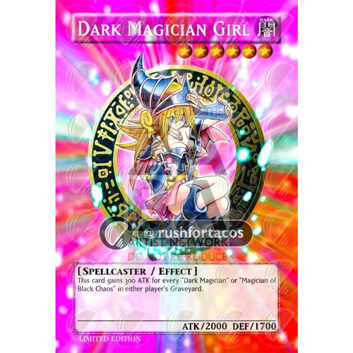 Dark Magician Girl V.3 Full Art Orica - Custom Yu-Gi-Oh! Card