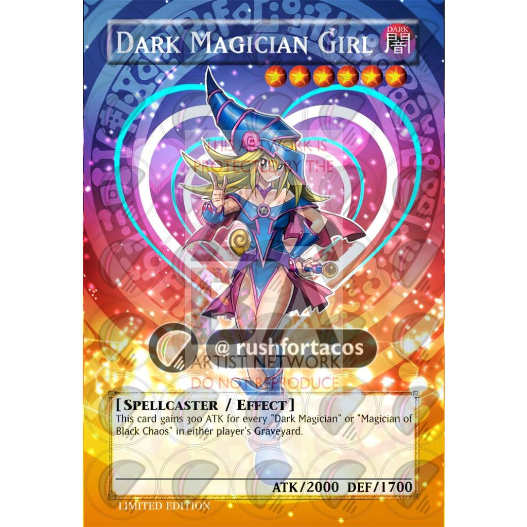 Dark Magician Girl V.4 Full Art Orica - Custom Yu-Gi-Oh! Card