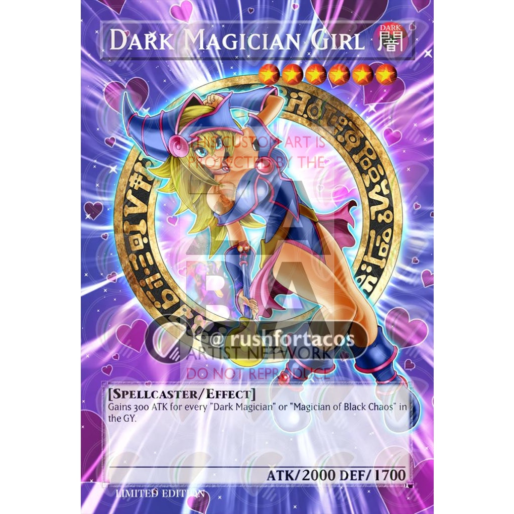 Dark Magician Girl V.6 Full Art Orica - Custom Yu-Gi-Oh! Card