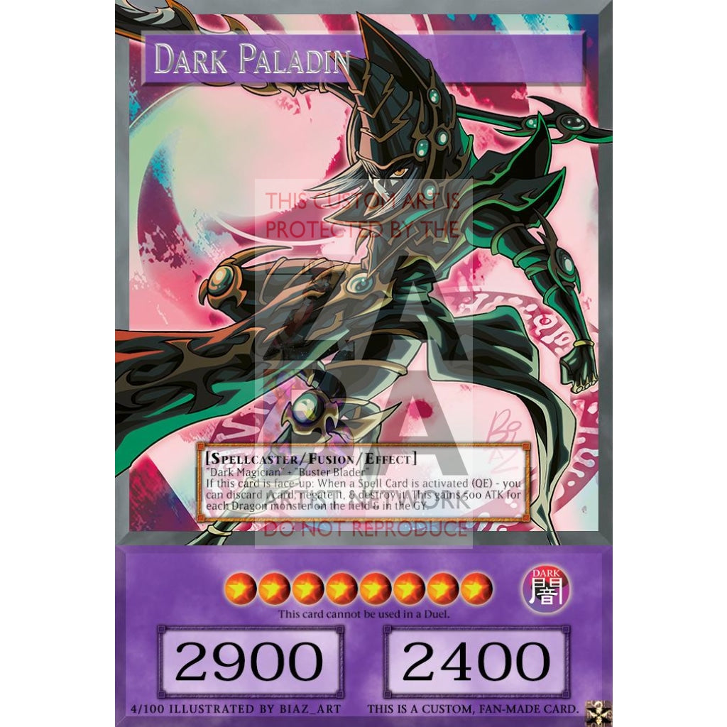Dark Paladin Full Art Orica - Custom Yu-Gi-Oh! Card Silver Foil