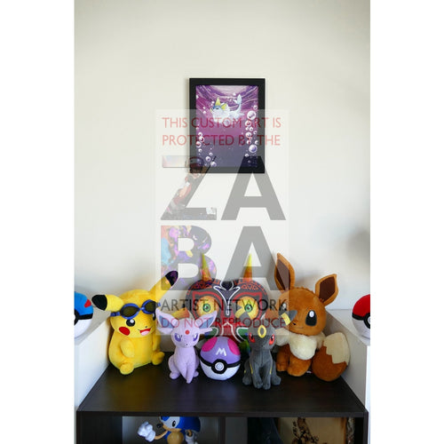 Dark Vaporeon (45/82 Team Rocket) 8.5 X 11 Poster Print By Lunumbra