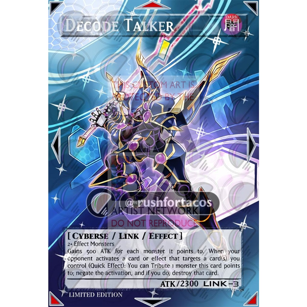 Decode Talker V.2 Full Art Orica - Custom Yu-Gi-Oh! Card