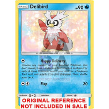 Delibird 57/214 Lost Thunder Extended Art Custom Pokemon Card