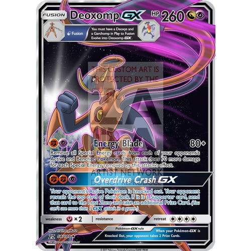 Deoxomp Gx Fusion Custom Pokemon Card