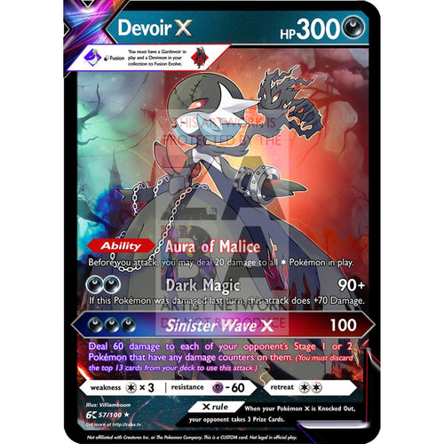 Devoir X (Devimon X Gardevoir) Custom Pokemon Card