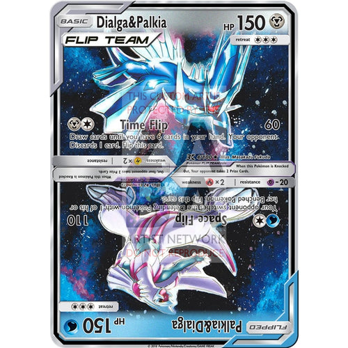 Dialga & Palkia Flip Team Custom Pokemon Card