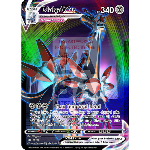 Dialga Vmax Custom Pokemon Card Silver Foil