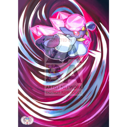 Diancie 94/147 Burning Shadows Extended Art Custom Pokemon Card Silver Foil
