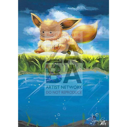 Ditto Eevee 80/111 Furious Fists Extended Art Custom Pokemon Card Textless Silver Holographic