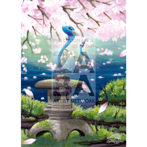 Dragonair 52/146 Legends Awakened Extended Art Custom Pokemon Card Textless Silver Holographic