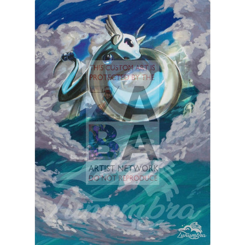 Dragonair 82/116 Black & White Plasma Freeze Extended Art Custom Pokemon Card Textless Silver