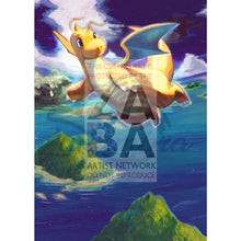 Dragonite 51/108 Xy Roaring Skies Extended Art Custom Pokemon Card Textless Silver Holographic
