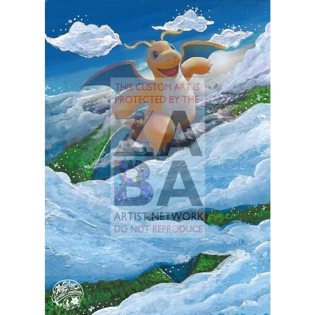 Dragonite 96-149 Sun & Moon Extended Art Custom Pokemon Card Silver Holo