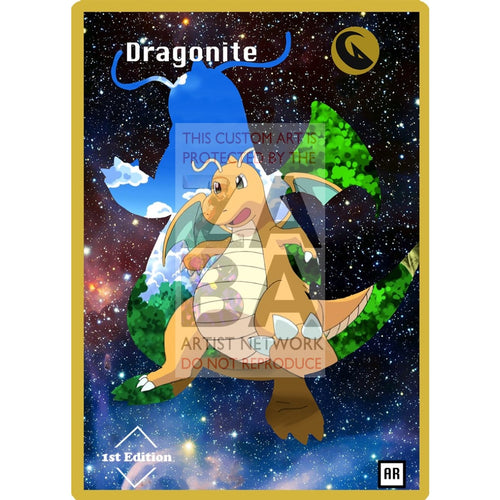 Dragonite Anime Silhouette (Drewzcustomcards) - Custom Pokemon Card